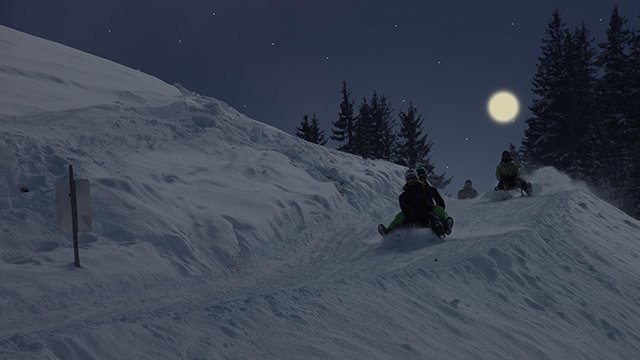 Sledge by night