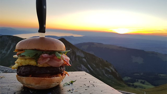 Evening Burgers at the Summit