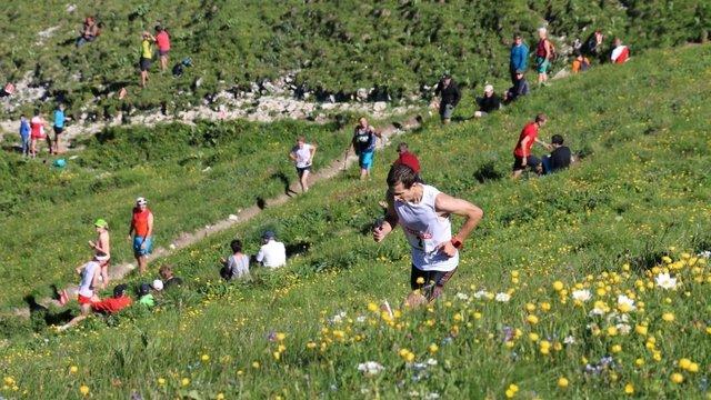 Ziel des Berglaufs Neirivue - Moléson
