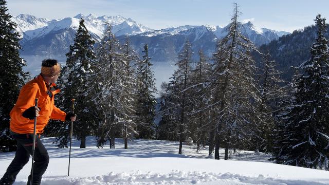 Winter Wanderweg von Jorasse