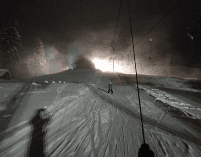 Night skiing in Rathvel